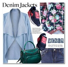 """Denim Jacket"" by svijetlana ❤ liked on Polyvore featuring denimjacket, polyvoreeditorial and twinkledeals"