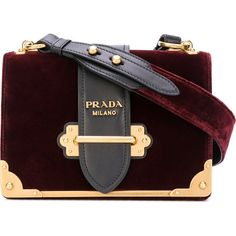 Prada Cahier mini bag ($2,440) ❤ liked on Polyvore featuring bags, handbags, shoulder bags, red, mini purse, miniature purse, red handbags, velvet handbags and velvet purse
