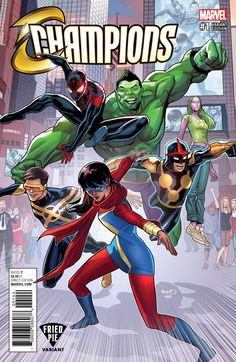 This would be cool for marvel to make a tv series like this. That or add some of these characters into marvel rising that are not already in the new series Ms Marvel, Marvel Man, Ghost Rider Marvel, Marvel Comic Universe, Man Thing Marvel, Marvel Heroes, Marvel Avengers, Comics Universe, Comic Book Covers