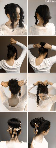 Stupendous Easy Regency Era Hairstyle Tutorial Long Hair No Heat Curls 1800S Short Hairstyles Gunalazisus