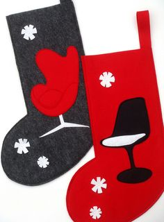 Modern christmas Stockings- Egg and Tulip Chair