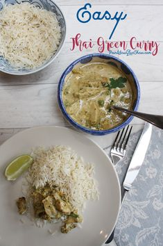 Thai Green Chicken Curry Makes An Easy Mid Week Supper. This Curry Is One Of My Families Favorites. Thai Green Chicken Curry, Thai Green Curry Recipes, Thai Curry, Curry In A Hurry, 5 Minute Meals, Hottest Curry, Party Food And Drinks, Spicy Recipes, Meal Planning