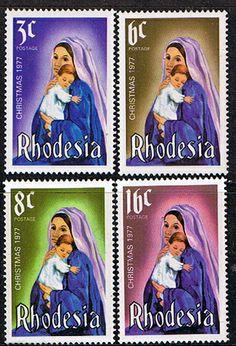 Rhodesia 1977 Christmas Set Fine Mint