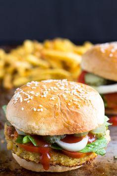 Feta Stuffed Quinoa Burgers ~ Delicious, Easy Gluten-Free Quinoa Burgers Stuffed with Feta Cheese and Seasonings!