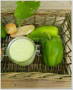 Tartinade de poivrons verts, ricotta et pesto de basilic