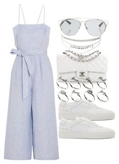 """""""Untitled #2516"""" by mariie00h ❤ liked on Polyvore featuring Christian Dior, J.Crew, Common Projects, Chanel and ASOS"""