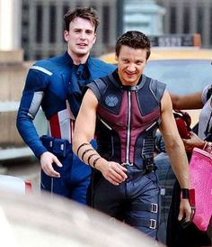 Chris Evans and Jeremy Renner