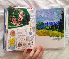 starbugscoffee: journal page ft. van gogh