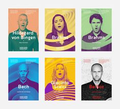 """The world-famous Dutch Chamber Choir is turning 80 years old. A good reason to look again at the brand.The challenge was """"How do you give sound a face?""""We were looking for a style that could move with the wide repertoire of the choir, from baroque to p… Banner Design, Id Card Design, Id Design, Cover Design, Layout Design, Print Design, Design Ideas, Identity Design, Visual Identity"""