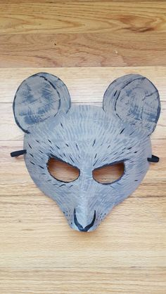 Rat mask rat costume by HighMoonCreations on Etsy