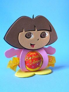 Porta Bombom Dora Aventureira www.petilola.com.br