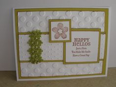 Card: Happy Hellos in Green