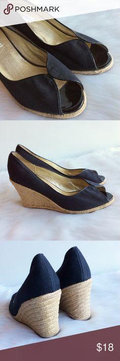 Steve Madden Peep-Toe Wedges ⚪️Preloved Great Condition ⚪️Size 10 Steve Madden Shoes Wedges