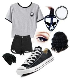 """Outa this world"" by eliseisnotlit on Polyvore featuring Chicnova Fashion and Converse"
