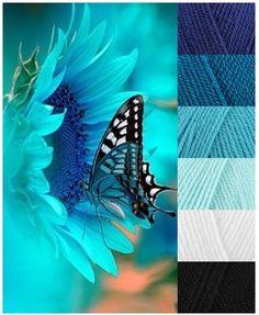 Stylecraft Special DK - Lobella, Empire, Turquoise, Sherbet, White and Balck #pippinpoppcock