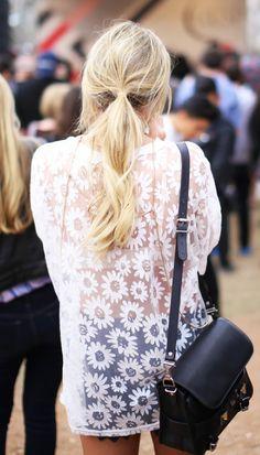 sheer daisy shirt