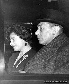 King George VI and Queen Elizabeth the Queen Mother arrive at London's Kings Cross Station February 1st en route back to Sandringham after seeing Princess Elizabeth and her husband off on their tour, 1st February 1952