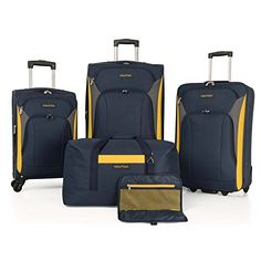 Sail the seas with the durable Nautica Open Seas 5 Piece Luggage Set. This 5 piece luggage set, has every piece any traveler could want to include on their next adventur Carry On Suitcase, Carry On Luggage, Luggage Sets, Travel Luggage, Travel Bags, Luxury Luggage, Travel Packing, Backpack Outfit, Luggage Backpack