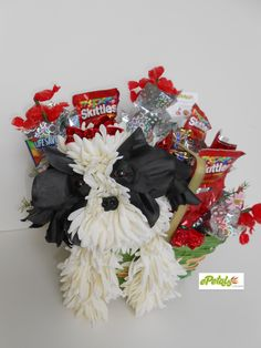 Flower Arrangements Shaped Like Dogs Unique Shih Tzu Floral Animal Arrangement with Candy Valentine Of Flower Arrangements Shaped Like Dogs New 153 Best Images About Dog and Animal Flower Arrangements Valentine Day Boxes, Valentines Flowers, Unique Flower Arrangements, Floral Centerpieces, Puppy Flowers, Candy Flowers, Bday Flowers, Flower Tutorial, Flower Petals