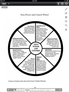 Graphic: Control Wheel for elder abuse. Domestic Abuse