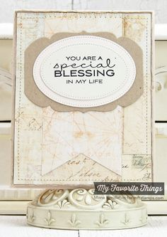 Cheerful Blessings, Fishtail Flags STAX Die-namics, Heirloom Label Die-namics, Pierced Oval STAX Die-namics - Mona Pendleton #mftstamps