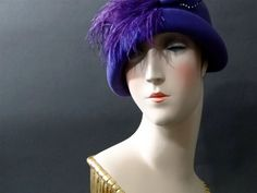 1970s Vintage Hat Does 1920s Art Deco Flapper by SueEllensFlair