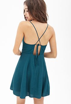 Crossback Cami Skater Dress | FOREVER 21 - 2000085640