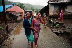Landslide levels remote village in India