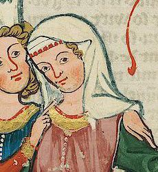 fillet veil codex manesse. Scroll down to entry for 14th c. Headgear