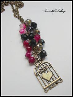 """Red heart"" (21 LEI la beautiful.day.breslo.ro) Heart, Bracelets, Places, Red, Beautiful, Jewelry, Jewlery, Jewerly, Schmuck"