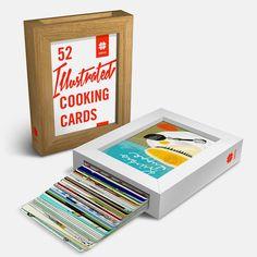 52 Illustrated Cooking Cards – Edition 1 | Slanted - Typo Weblog und Magazin