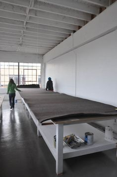 Building our printing tables   Portland Textile Studio                                  fantasy print table