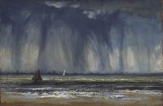 """art-history: """" Gustave Courbet, The Waterspout, Oil on canvas on gypsum board, x cm. Philadelphia Museum of Art """" Gypse, Gustave Courbet, French Paintings, Vintage Paintings, Philadelphia Museum Of Art, Philadelphia Pa, French Art, Romanticism, Art Oil"""