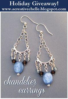 Win these earrings at www.acreativechelle.blogspot.com