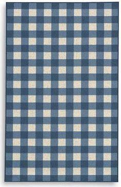 Karastan French Check Blue 357-29917 Area Rug