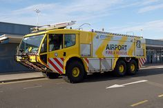 Carmichael unit with a different paint job at the East Midlands Airport in the UK