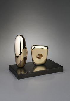 ** Barbara Hepworth ** Two Figures, 1967. Polished bronze