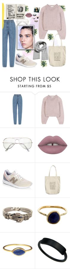 """""""Untitled #92"""" by haya22s ❤ liked on Polyvore featuring Ksenia Schnaider, Chloé, Lime Crime, New Balance, Monica Vinader and MANGO"""