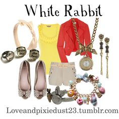 """white rabbit"" by loveandpixiedust on Polyvore"