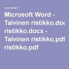 Microsoft Word - Talvinen ristikko.docx - Talvinen ristikko.pdf