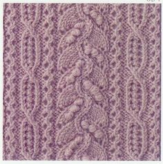 Free chart Lace Knitting Stitch #55 | Lace Knitting Stitches