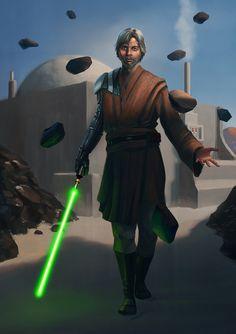 Old Luke Skywalker - Star Wars - CyberWolf