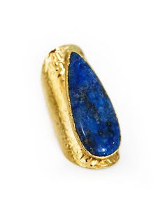 gold LAPIS cigar ring