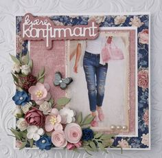 Albums, Birthday Cards, Craft Projects, Roses, Scrapbooking, Frame, Crafts, Design, Decor