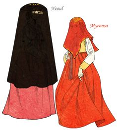 During the Joseon Dynasty, Women hid their face when they went out to keep distance from men. These were main over garments in early Joseon, before Jang-ot and Sseugae-chima were used. Neoul i...