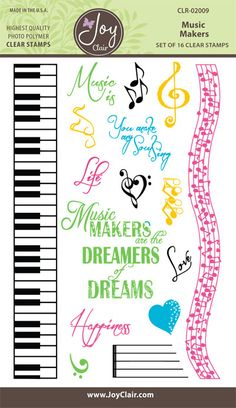Music Maker Clear Stamps