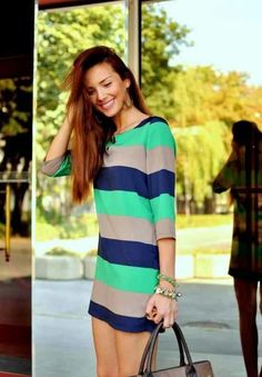 Love colors for a stripe dress.