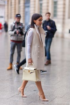 Miroslava Duma - Paris Fashion Week Fall 2014 Street Style