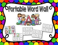Here you will find a Kindergarten Portable Word Wall, but it can also be used as a static word wall. There are 260+ pre-written word cards along with individual cards for each alphabet letter. Words include the Fry list of most common words, number words, colors, months, days of the week, weather, animals, classroom items, etc. Plus there is a page with blank cards so you can add any additional words you would like to use. $2