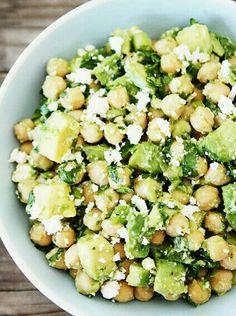 Kichererbsen | Avocado | Fetakäse | Olivenöl | Minze | Kräutersalz